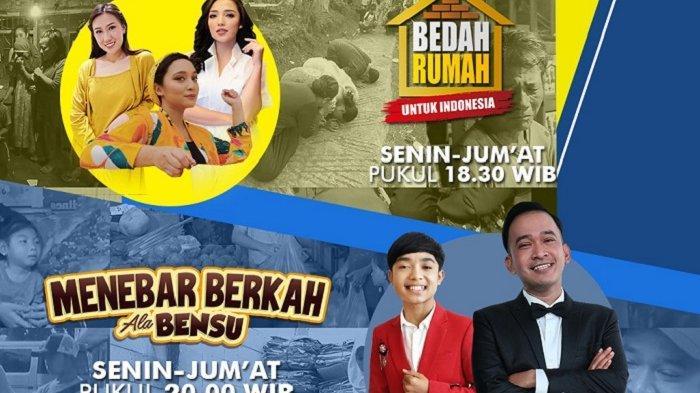 Aksi Betrand Peto dan Ruben Onsu Pandu Progam Menebar Berkah Ala Bensu di GTV