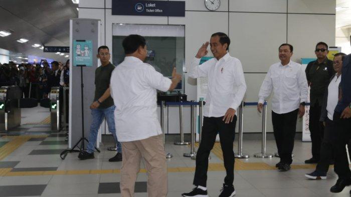 Jokowi dan Prabowo Subianto Sepakat Tidak Ada Lagi Cebong dan Kampret Atau Kubu 01 dan 02