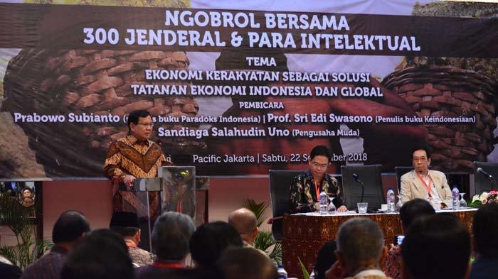 Prabowo di Depan 300 Jenderal Purnawirawan TNI: Inilah Pertempuran Terakhir Kita!