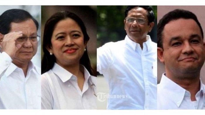 Prabowo Subianto dan Puan Maharani Hingga Mahfud MD dan Anies Baswedan Prediksi Maju ke Pilpres 2024
