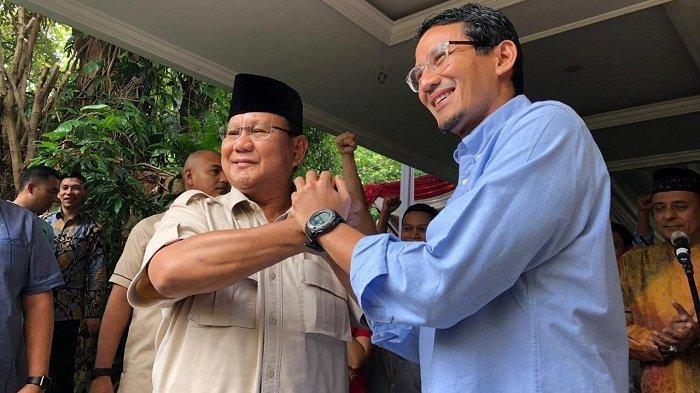 Prabowo-Sandi Kembali Tegaskan Tolak Hasil Pemilu 2019, tapi Pastikan Bakal Gugat ke MK