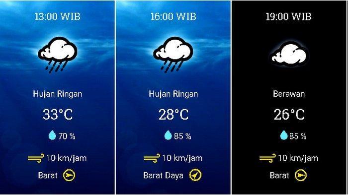 UPDATE Prakiraan Cuaca Jabodetabek Minggu (1/11) BMKG: Waspadai Hujan di Jaksel & Jaktim Siang