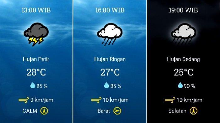 UPDATE Prakiraan Cuaca Jabodetabek Minggu (25/10) Waspada Hujan Petir di Jakbar Jaksel Jaktim Siang