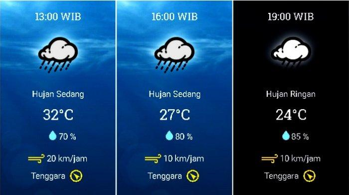 Prakiraan cuaca Kecamatan Kota Bogor, Bogor, Jawa Barat, pada Rabu 4 November 2020.