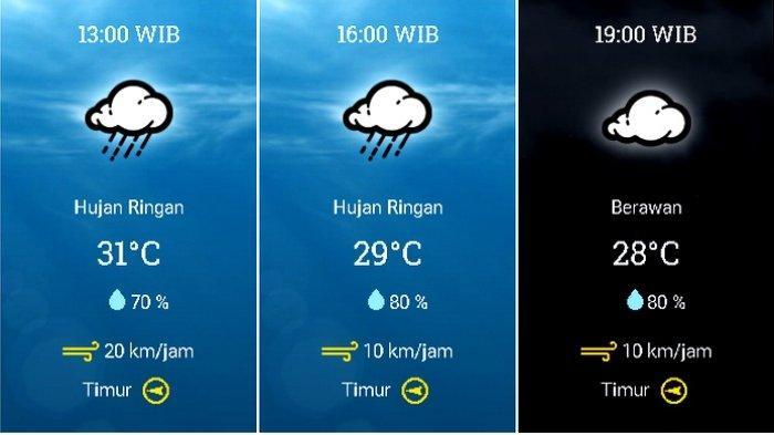 Prakiraan cuaca Kecamatan Kota Bogor, Bogor, Jawa Barat, pada Selasa 27 Oktober 2020