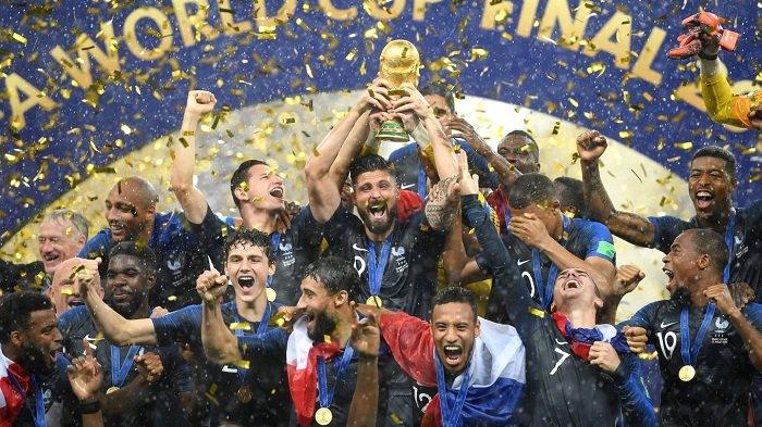 Galeri Foto Kemenangan Prancis atas Kroasia di Final Piala Dunia 2018