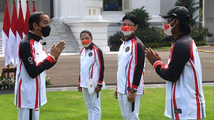 Presiden Joko Widodo Melepas Kontingen Indonesia ke Olimpiade Tokyo Secara Terbatas dan Virtual