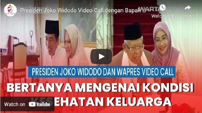 VIDEO Silaturahmi Presiden Joko Widodo dengan Wakil Presiden Maruf Amin Melalui Video Call