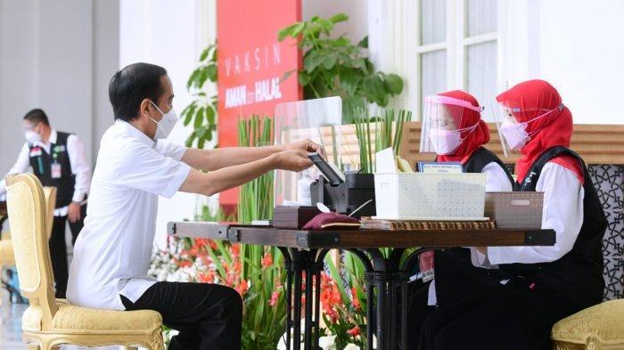 Kasus Covid-19 Melonjak, Tamu Presiden Jokowi Wajib Pakai Masker, Faceshield & Tes PCR