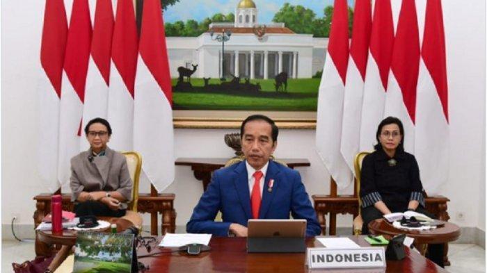 Presiden Jokowi Ikuti KTT Luar Biasa G20 Secara Virtual, Ajak Pemimpin Dunia Menangi Dua Peperangan