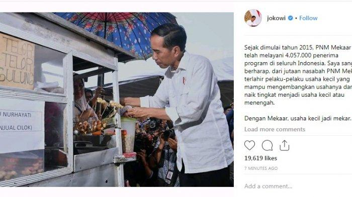 Sambil Tinjau Pedagang Binaan, Presiden Jokowi Sempatkan Jajan Cilok