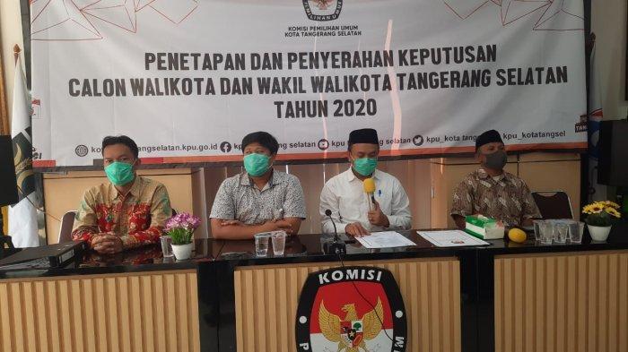 KPU Kota Tangsel mengumumkan pasangan calon kandidat Pilkada Tangsel 2020 di kantor KPU Tangsel, Setu, Tangsel pada Rabu (22/9/2020)