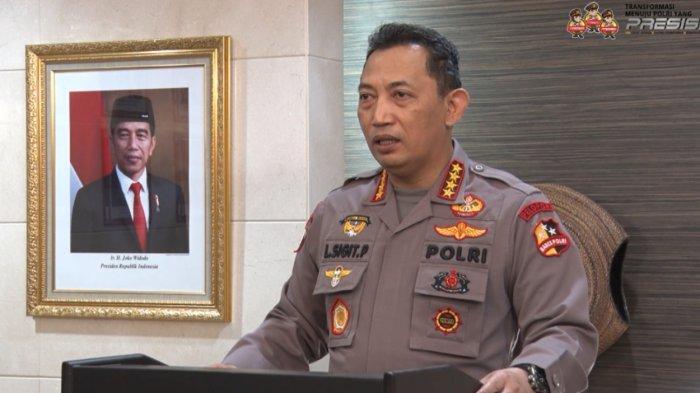 Kapolri Jendral (Polisi) Drs. Listyo Sigit Prabowo, M.Si saat menyampaikan enam pesan penting dalam rangka menyambut kedatangan mahasiswa baru President University (PresUniv) angkatan 2021, Senin (23/8/2021).