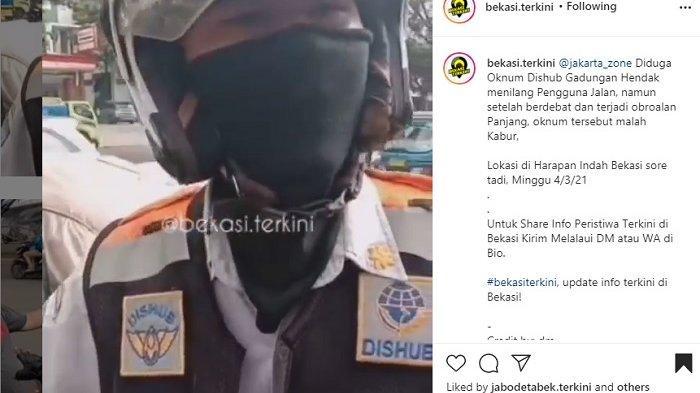 Viral Video Pria Berseragam Dishub Kota Bekasi hendak Tilang Pengendara Pick-Up, Sopir Melawan