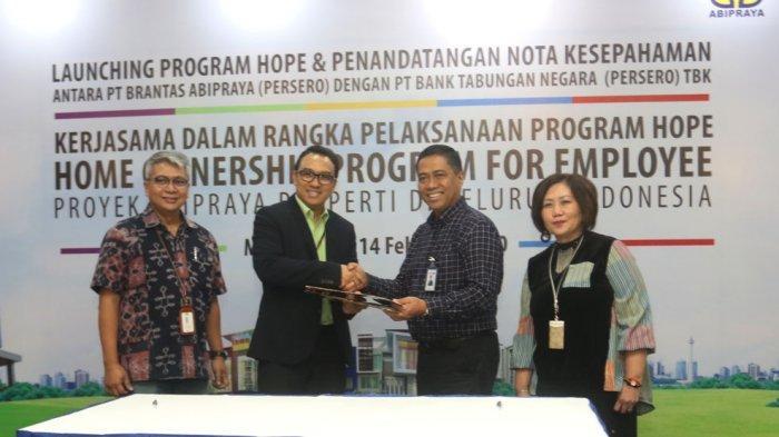 PT Brantas Abipraya (Persero) & PT Bank Tabungan Negara (Persero) Tbk Luncurkan Program HOPE