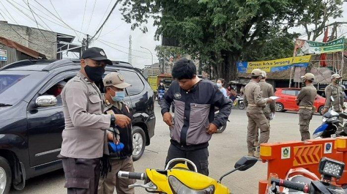 Polsek  Gunung Sindur Gelar Patroli Prokes karena Kasus Covid-19 Kembali Meningkat
