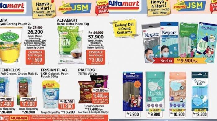 Promo Akhir Tahun Alfamart Terbaru Dapatkan Diskon Beras 5 Kg, Minyak 2 L, Masker Sampai Snack