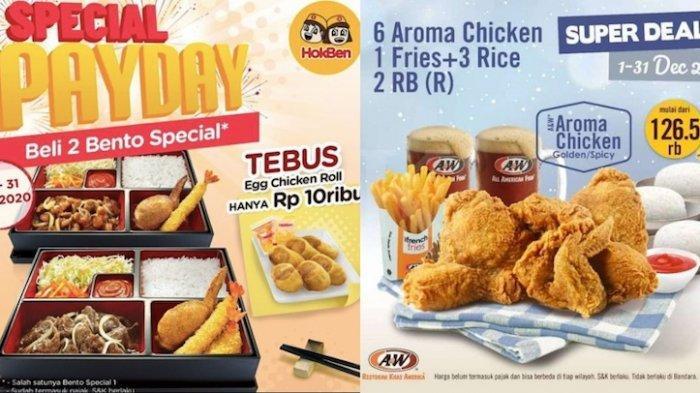 Promo Hokben Payday Diskon 50 Persen dan Promo A&W Paket Hemat Ayam, Nasi dan Minuman