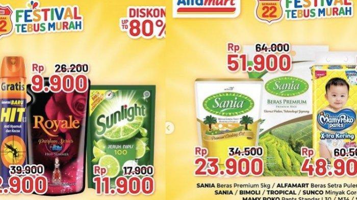 PROMO ALFAMART Dalam Rangka Ulang Tahun ke 22 Harga Murah Minyak Sania, Sunlight dll