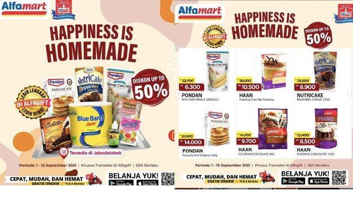 KATALOG Promo Alfamart Rabu 8 September Dapatkan Harga Hemat Kebutuhan Dapur, Bahan Kue