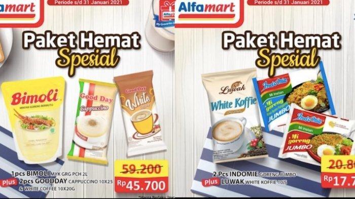 Promo Alfamart Hari Ini Selasa (26/1) Paket Superhemat Bundling Minyak Goreng, Kopi, Mi Instan