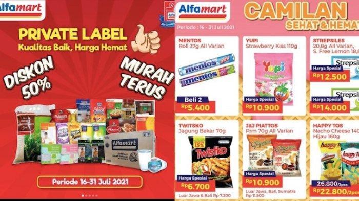 Promo Alfamart Rabu 21 Juli, Hemat Sampai 50 Persen Privat Label Hingga Serba Gratis