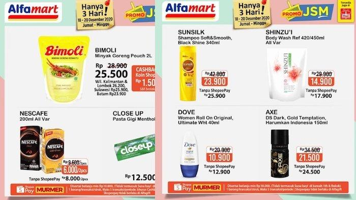 Promo Alfamart Hari Ini Diskon Minyak Goreng 2 L, Tissue, Nescafe, Sampo, Pengharum Pakaian