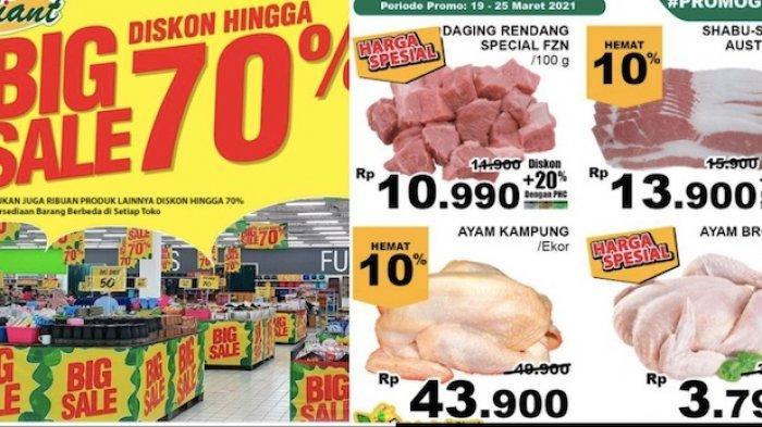 PROMO Giant Senin 22 Maret Ada Big Sale Sampai 70 Persen untuk Aneka Kebutuhan Harian Anda