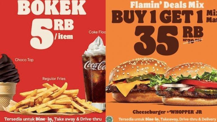Promo Burger King April Dapatkan Paket Burger Sampai Ayam dengan Harga Mulai 5000 an