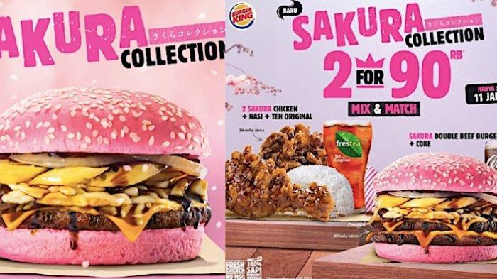 Promo Burger King Terbaru Beli Paket Sakura Collection dengan Harga Mulai 50 Ribuan