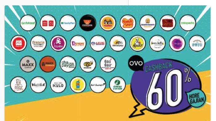 Promo Cashback 60 Persen dari OVO, Ada lebih dari 26 Restoran yang Ikut