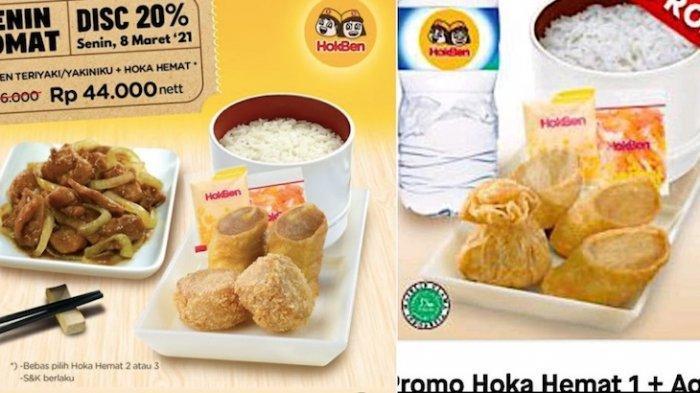 Promo Hokben Paket Senin Nomat Cuma Rp 44.000 Dapat Hoka Hemat dan Chicken Teriyaki