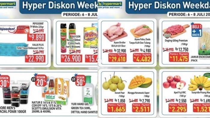 PROMO Hypermart Rabu 7 Juli Diskon Ayam, Buah Segar, Susu, Sembako Hingga Cashback