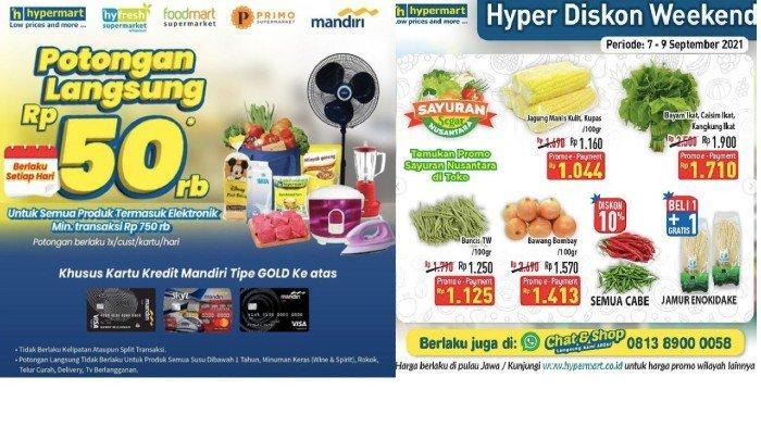 PROMO Hypermart Weekday 7-9 September Harga Hemat Susu, Buah, Aneka Sayuran Segar dll