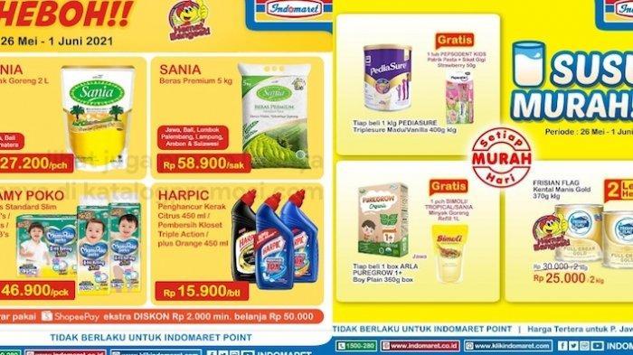 Katalog Promo Indomaret Selasa 1 Juni Dapatkan Diskon Susu, Aneka Snack, Minyak, Beras