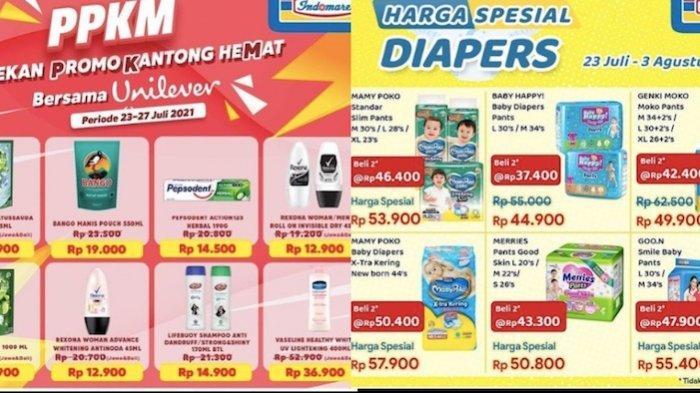 PROMO Indomaret Sabtu 24 Juli, Harga Hemat Produk Unilever, Popok Bayi Hingga Sembako