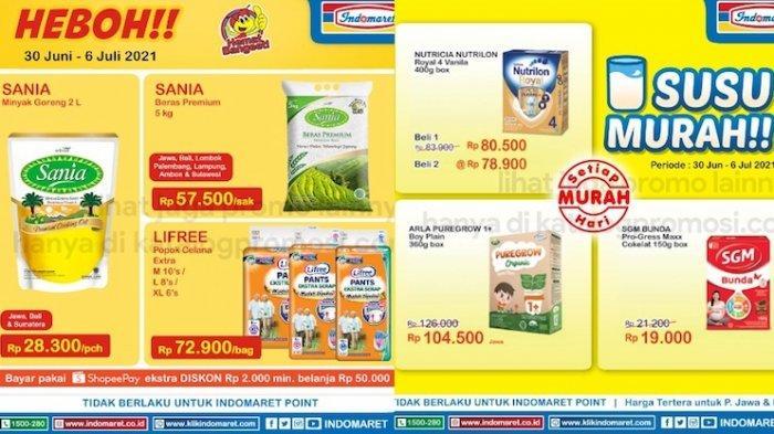 PROMO Indomaret 1-6 Juli Dapatkan Harga Hemat Susu, Sania Minyak Goreng, Beras