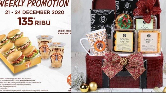 Promo JCO Hari Ini Dapatkan Paket Donat Plus Minuman Hingga Aneka Hampers untuk Natal