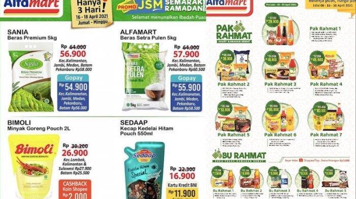 Promo JSM Alfamart 16-18 April Diskon dan Hemat Sampai 50 Persen dari Sembako Sampai Kue Kalengan
