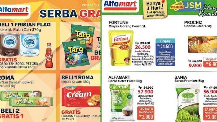 Promo JSM Alfamart 2-4 April Harga Diskon Mulai Beras, Minyak Goreng, Keju, Tisu dan Lainnya