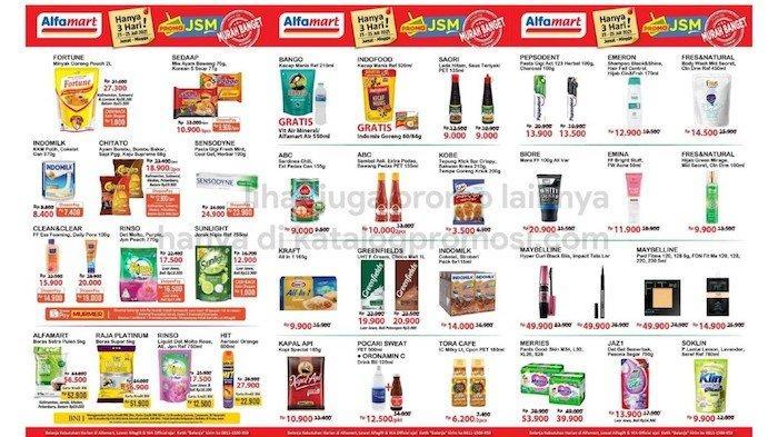 PROMO JSM Alfamart 23-25 Juli Dapatkan Barang Diskon Mulai Minyak Fortune, Kecap, Mi Sedap, Biskuit