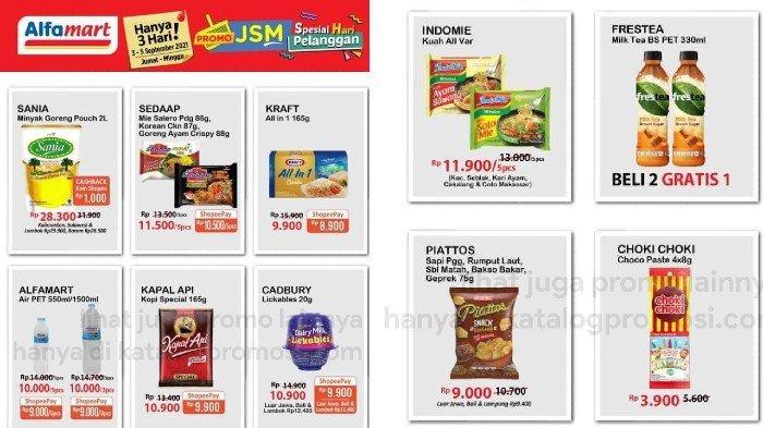 KATALOG Promo JSM Alfamart 3-5 September Spesial Hari Pelanggan Diskon Minyak, Beras, Susu dll