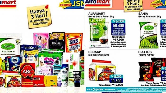 Promo JSM Alfamart 19-21 Februari Harga Hemat Beras Pulen, Minyak 2L, hingga Perlengkapan Mandi