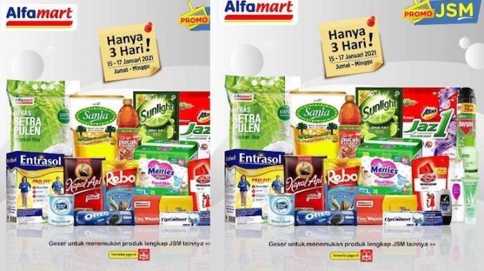 Promo JSM Alfamart Terbaru 15-17 Januari Diskon Beras 5 Kg, Minyak Goreng, Susu, Tisue