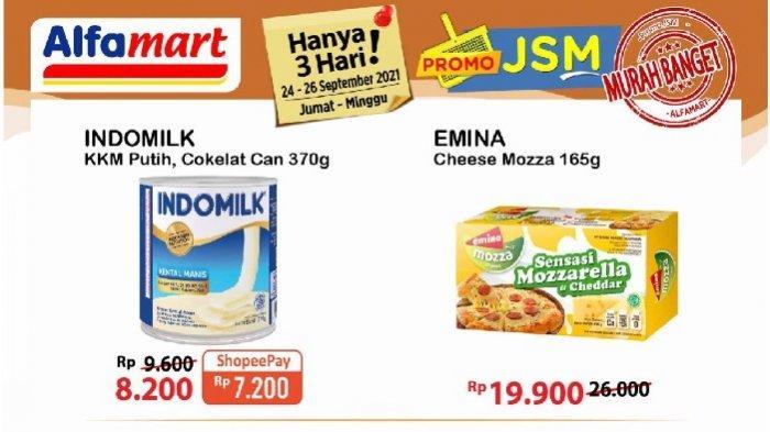 Promo JSM Alfamart Jumat 24 September Diskon Keju, Minyak Goreng, Beras, Aneka Snack dll