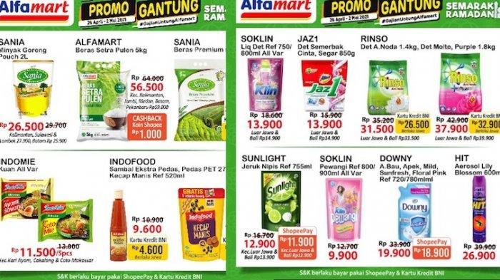 Promo JSM Alfamart Plus Gantung 30 April-2 Mei Diskon Beras, Minyak, Sabun Cuci Harga Hemat