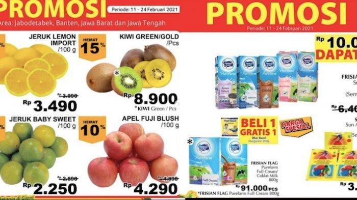 Promo JSM Giant 12-18 Februari Diskon Hingga 50 Persen dari Jeruk Ponkam, Daging, Susu