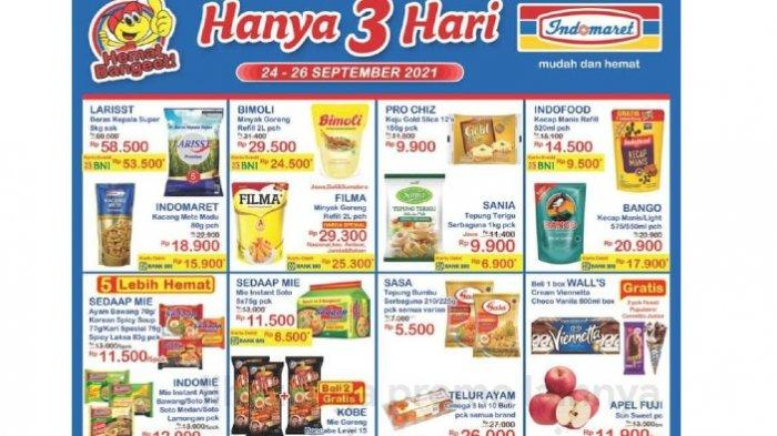 PROMO JSM Indomaret 24-26 September Hemat Minyak Goreng, Deterjen, Popok, Aneka Snack dll