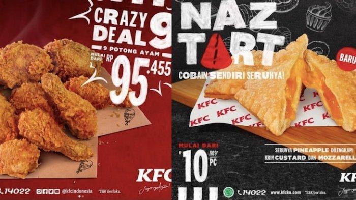 Promo KFC Hari Ini Dapatkan Paket 9 Potong Ayam Mulai Rp 95.000 Hingga Menu Baru yang Manis