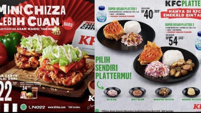 Promo KFC Hari Ini dengan Menu Baru Mini Chizza dan Pilih Platters Sendiri Mulai Rp 22 Ribuan